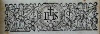 Jezsuita címer (könyvdísz)