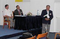 Szabadi István, Janka György, Lakos János a Kormos László-díj átadásán, Szeged, 2013. júl. 1.