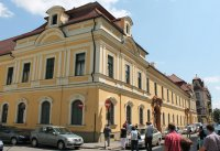 Temesvár, püspöki palota, a MELTE-EME vándorgyűlés résztvevői, 2013.07.03